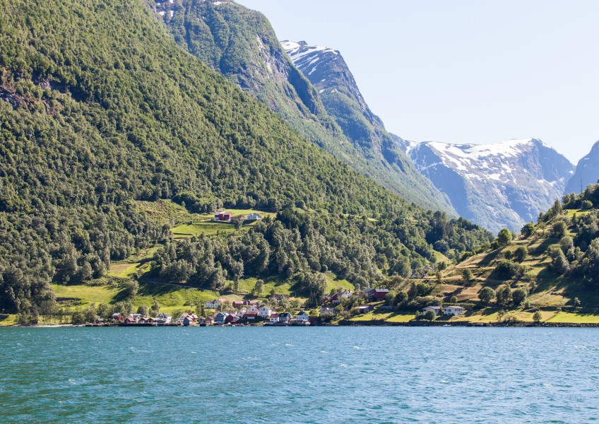 a branch of the Sognefjord, Norway, near Flåm, June 2014, picture 70