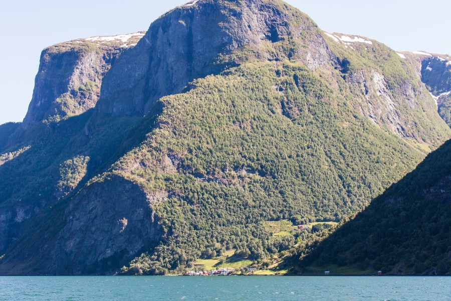 mountains around a branch of the Sognefjord, Norway, near Flåm, June 2014, picture 72