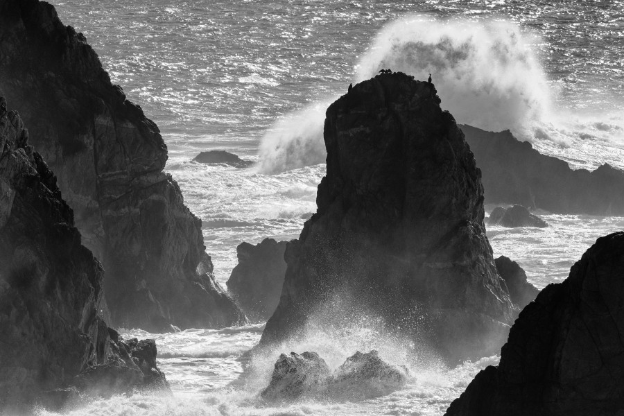 Rocks and surf at the Pacific Coast in Northern California