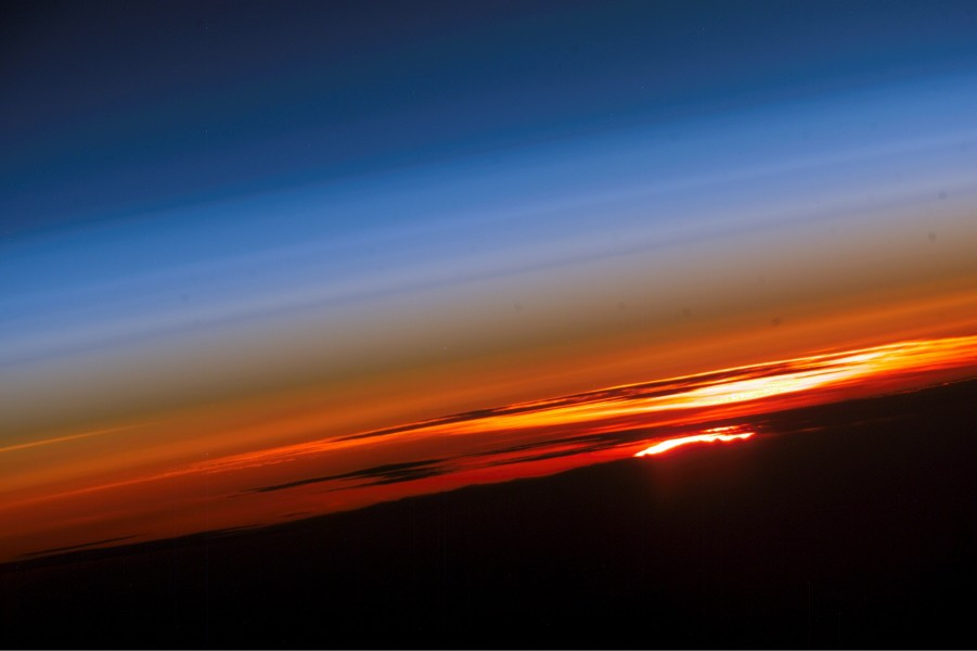 Sunset from Internation space station