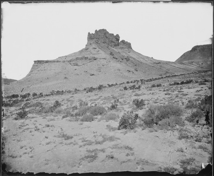 Tertiary Bluffs or Buttes. Near Green River City, Wyoming - NARA - 519446