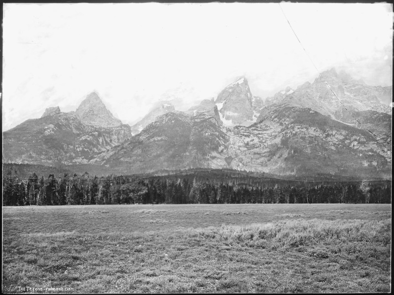 Tetons from the east. Wyoming - NARA - 517662