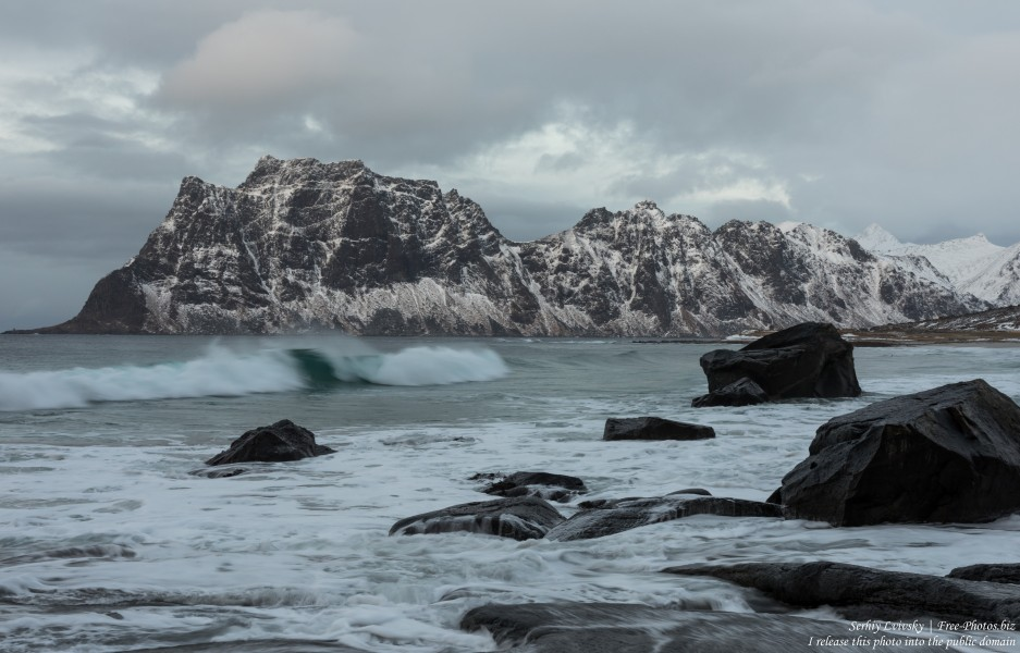 Uttakleiv beach, Norway, in February 2020, photographed by Serhiy Lvivsky, picture 2