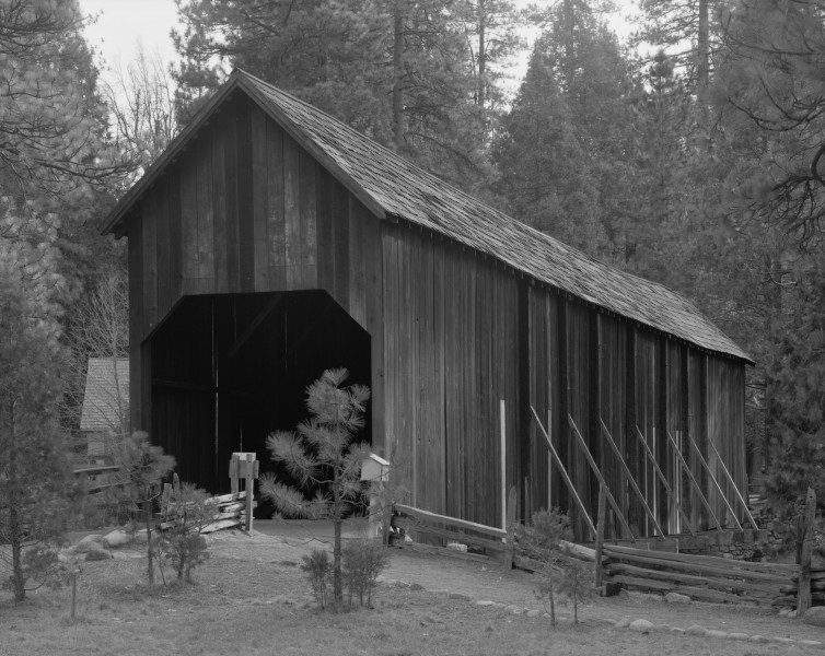Wawona Covered Bridge, Spanning South Fork Merced River on service road, Wawona (Mariposa County, California)