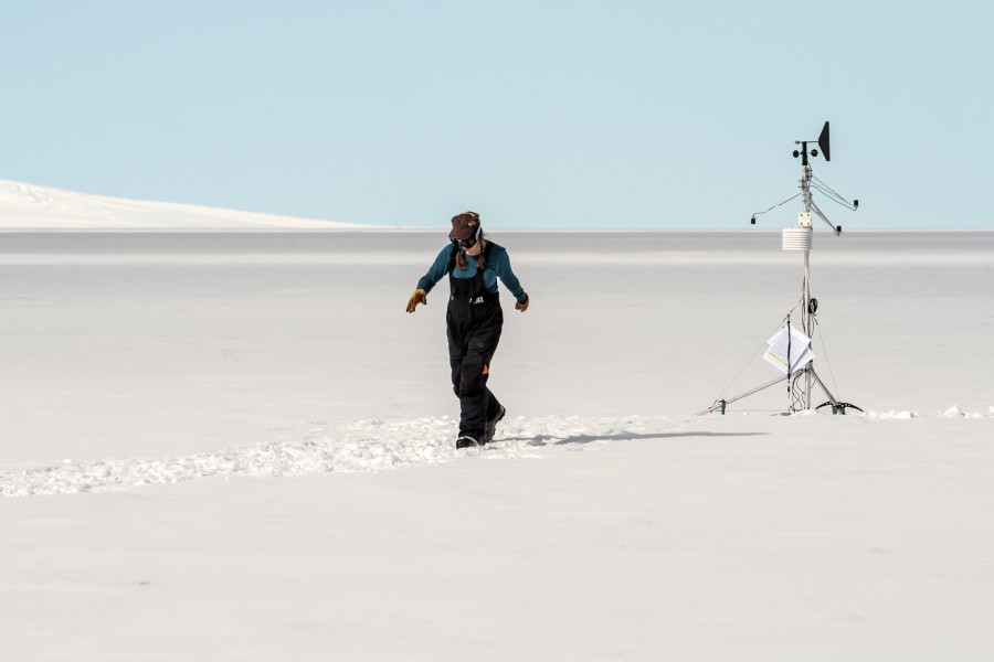Weather observations in Antarctica