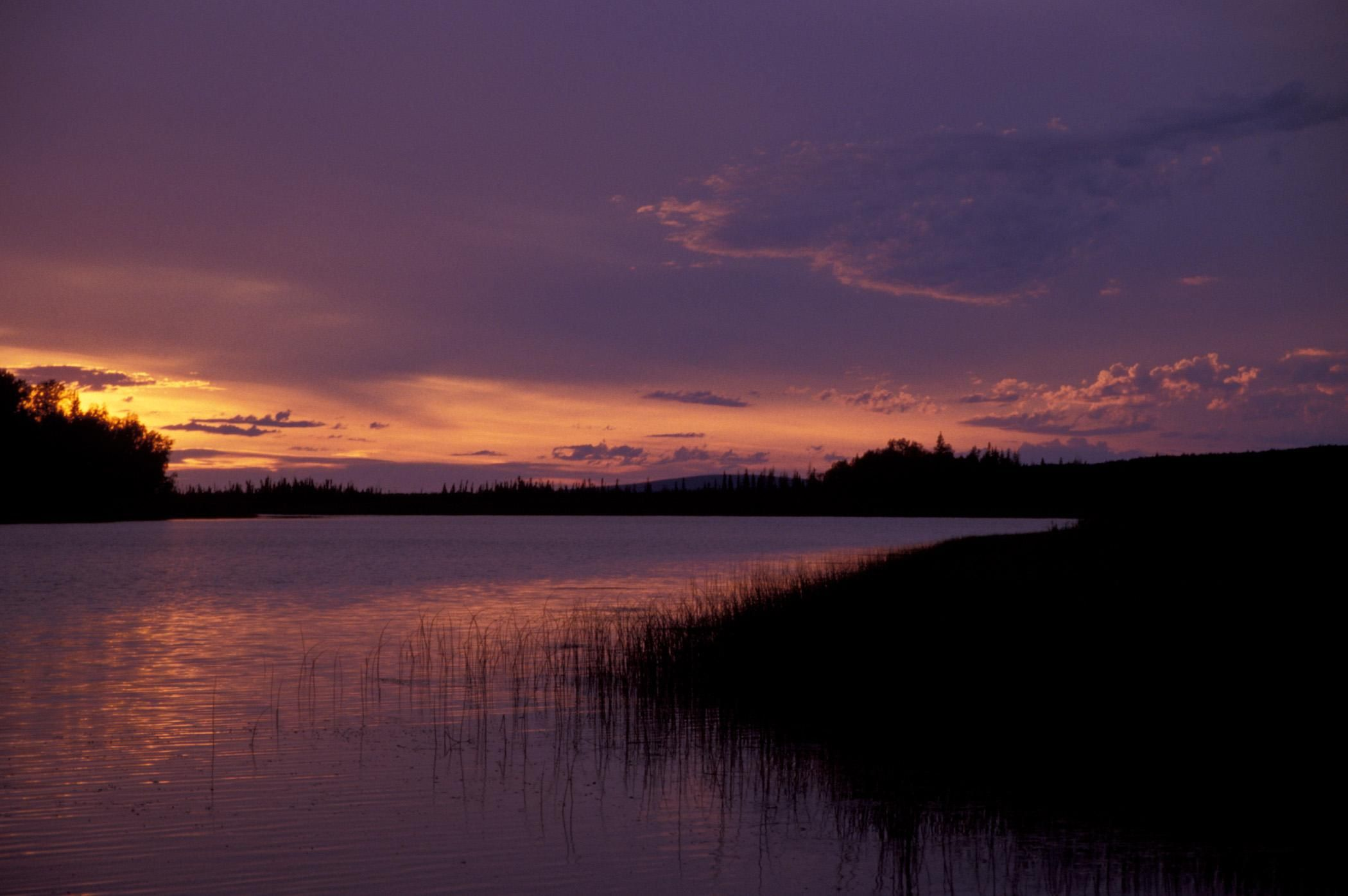 Sunset on the innoko national wildlife refuge