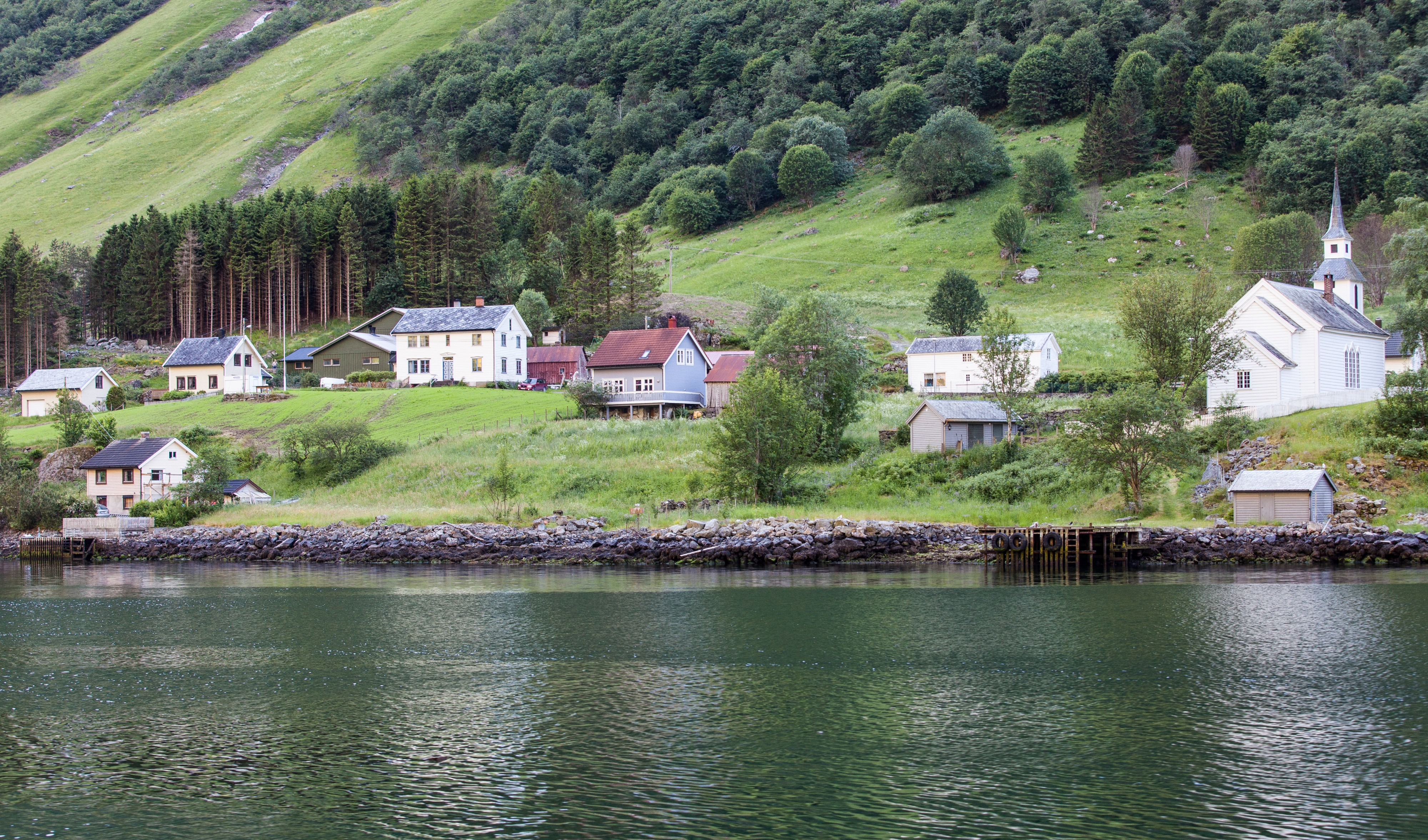 a branch of the Sognefjord, Norway, near Flåm, June 2014, picture 97