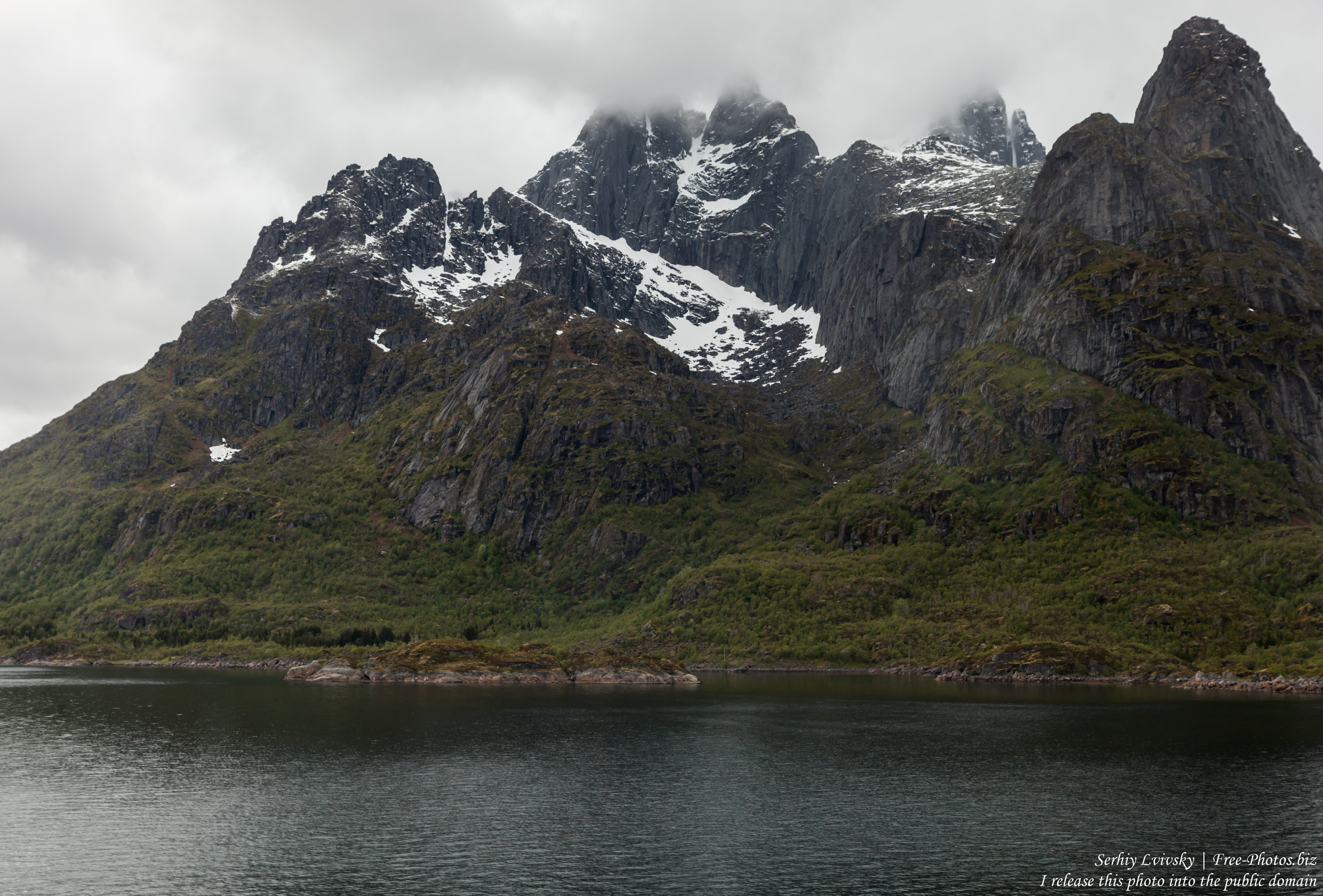 way from Stokmarknes to Trollfjord, Norway, photographed in June 2018 by Serhiy Lvivsky, picture 17