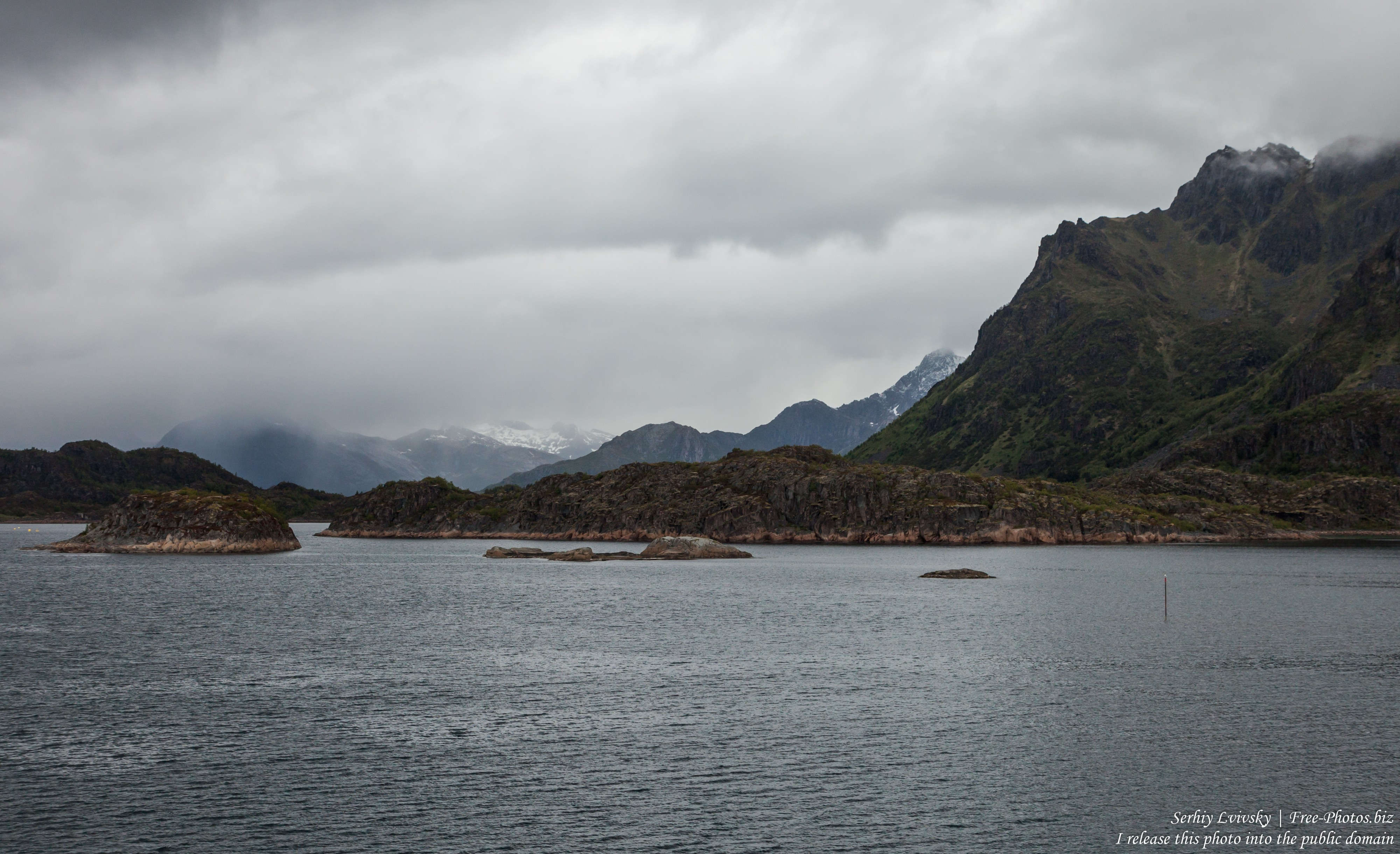 way from Trollfjord to Svolvaer, Norway, photographed in June 2018 by Serhiy Lvivsky, picture 11