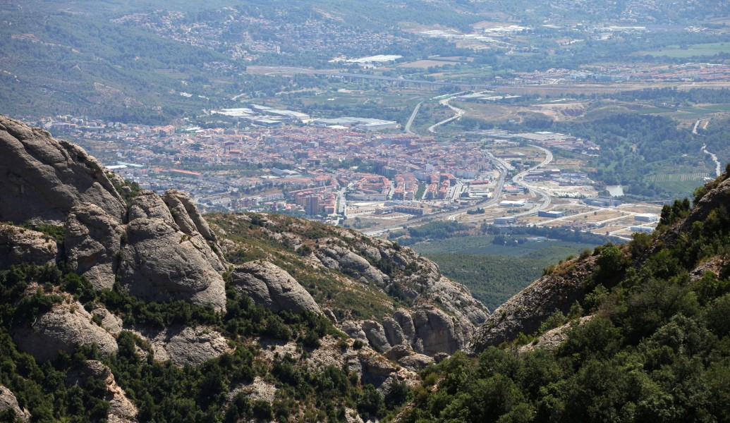 a view from Montserrat mountain, Catalonia, Spain, Europe, August 2013, picture 15