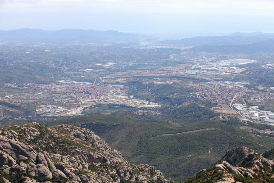 a view from Montserrat mountain, Catalonia, Spain, Europe, August 2013, picture 21
