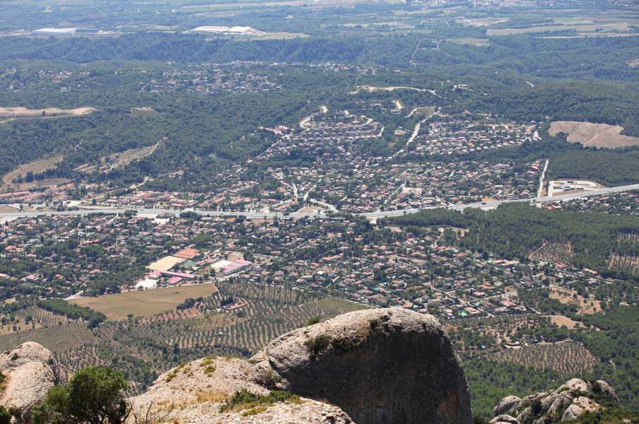 a view from Montserrat mountain, Catalonia, Spain, Europe, August 2013, picture 25