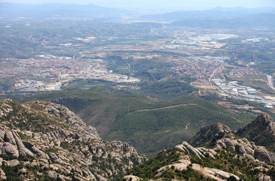 a view from Montserrat mountain, Catalonia, Spain, Europe, August 2013, picture 27