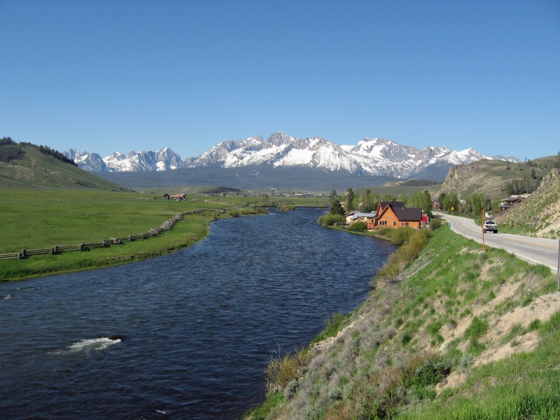 Sawtooth Mountains and Salmon River