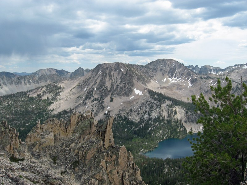 Sawtooths and Toxaway Lake