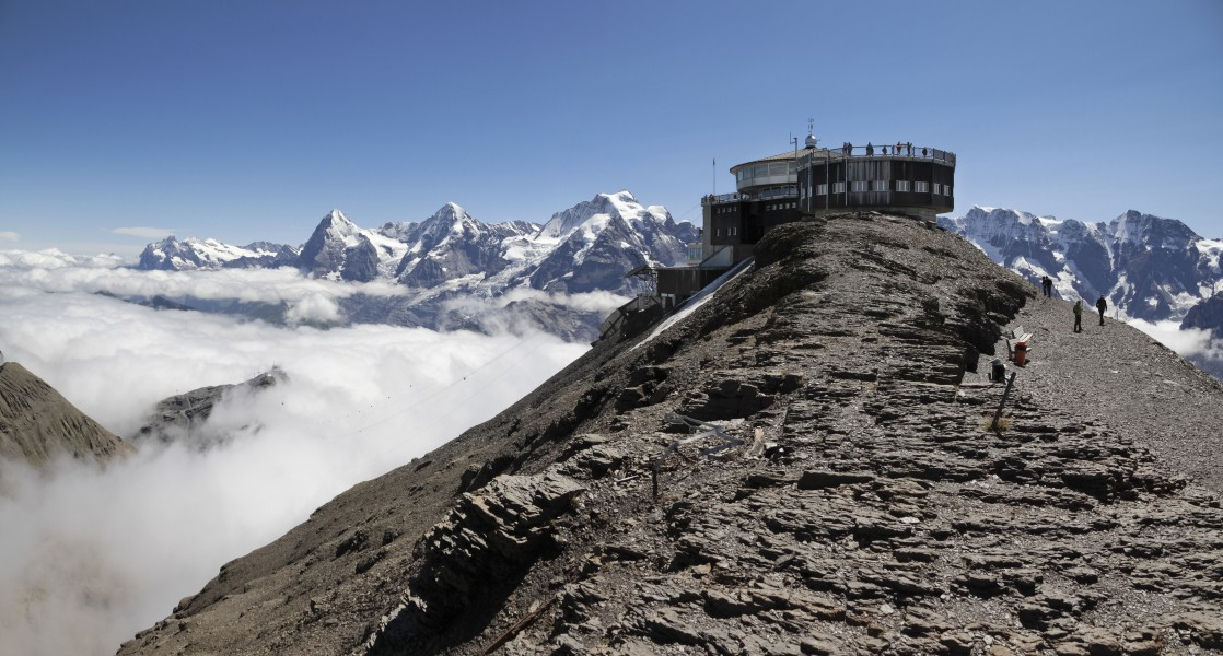 Schilthorn with Bernese Alps, 2012 August
