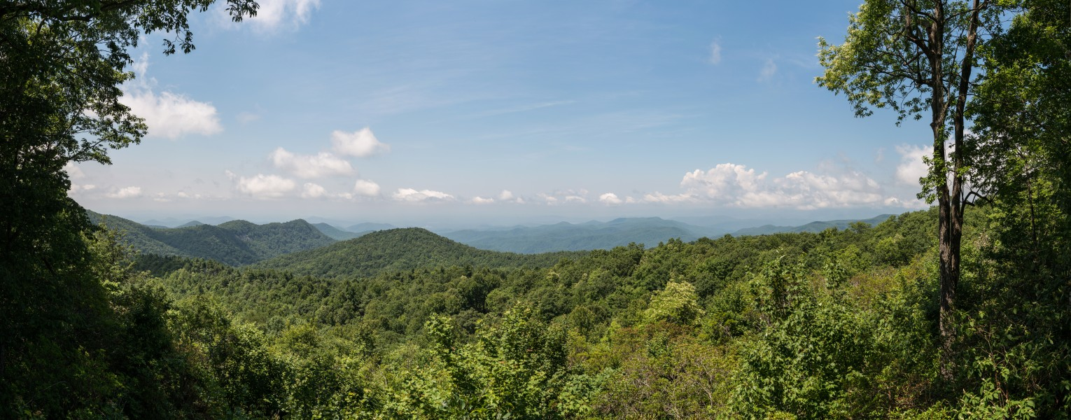 View of Blue Ridge Mountains from Sassafras Mountain, Pickens County SC 20160701 1
