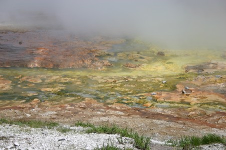 Colourful Thermophilic Archaebacteria Stain in Midway Geyser Basin
