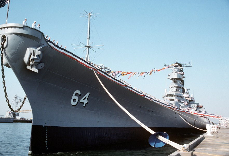 USS Wisconsin (BB-64) decommissioning