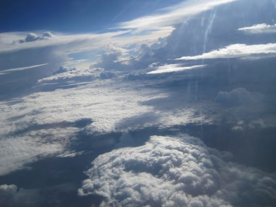 Clouds in the sky, seen from above (21 July 2010)