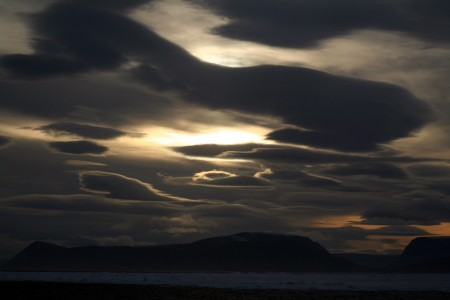 Lenticular clouds in High Arctic 2