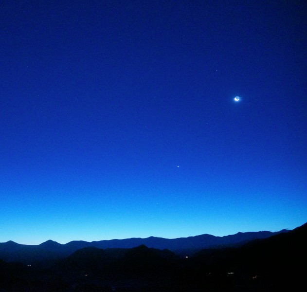Saturn, Moon, Venus and Mercury at dawn - 10 Dec. 2012