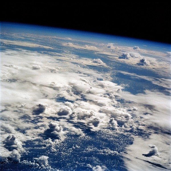 Thunderstorms over the Pacific seen from Earth orbit on STS-64