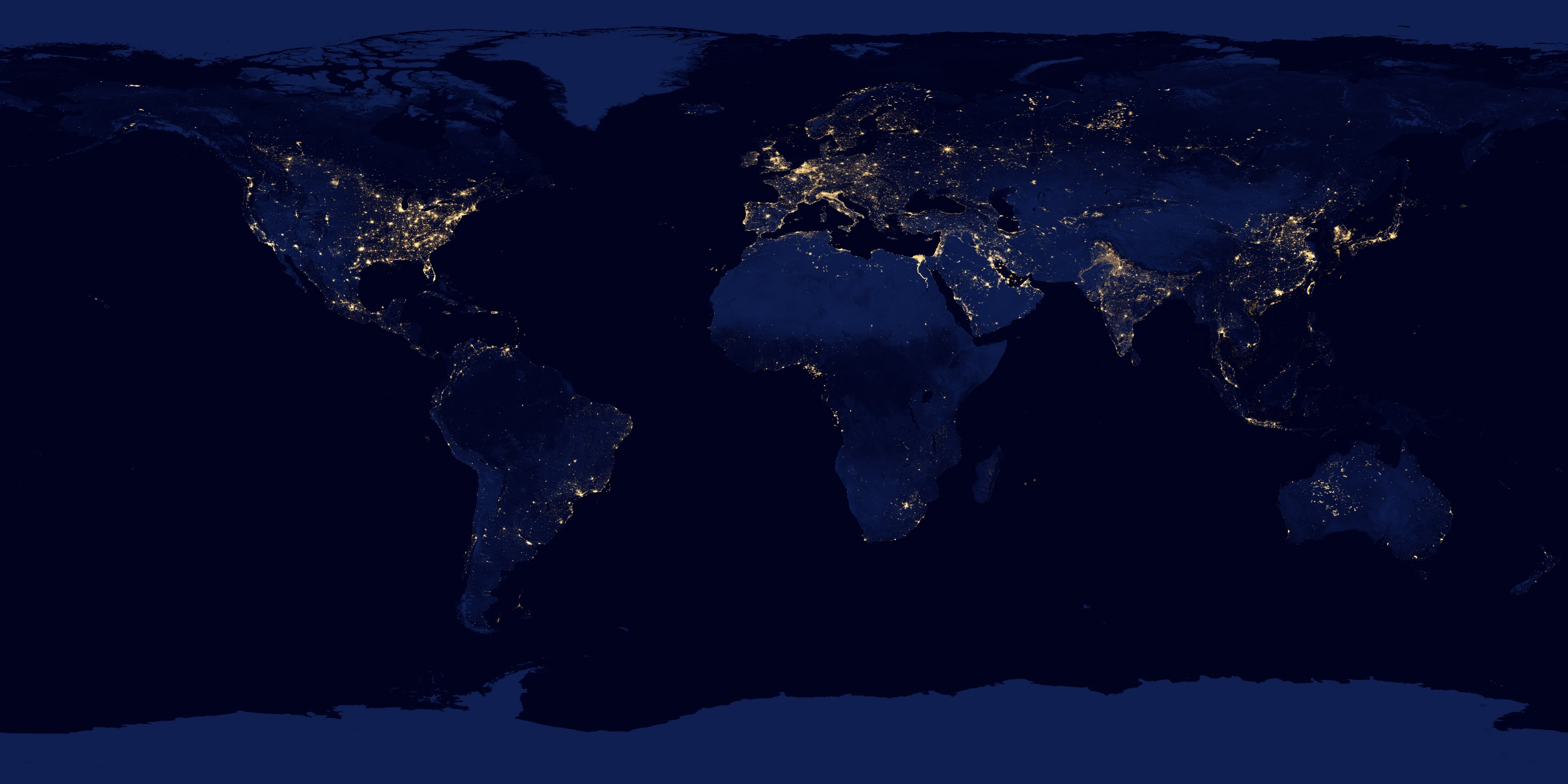 The earth at night