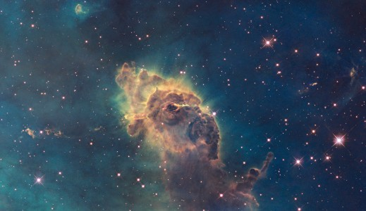 Carina Nebula in visible light (captured by the Hubble Space Telescope)