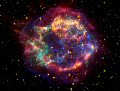 Cassiopeia A Spitzer Crop