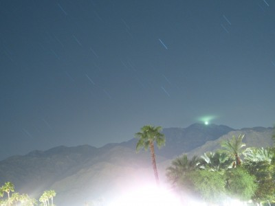 Morning star trails in Palm Springs 21-09-2007