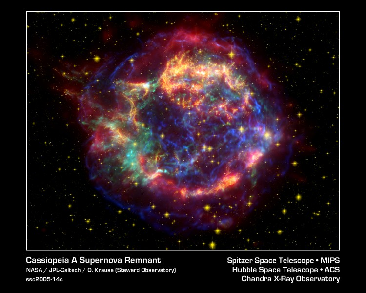 Cassiopeia A Spitzer