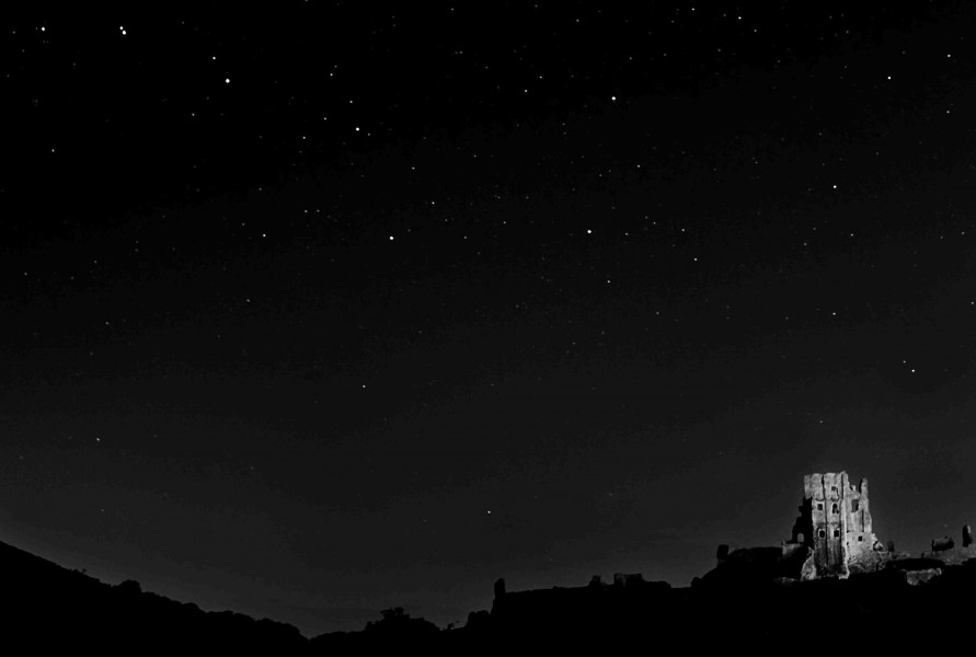 Corfe Castle under Stars (6330258910)