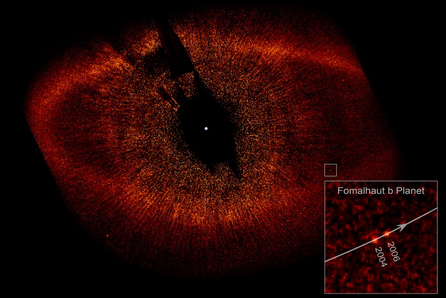 Fomalhaut with Disk Ring and extrasolar planet b
