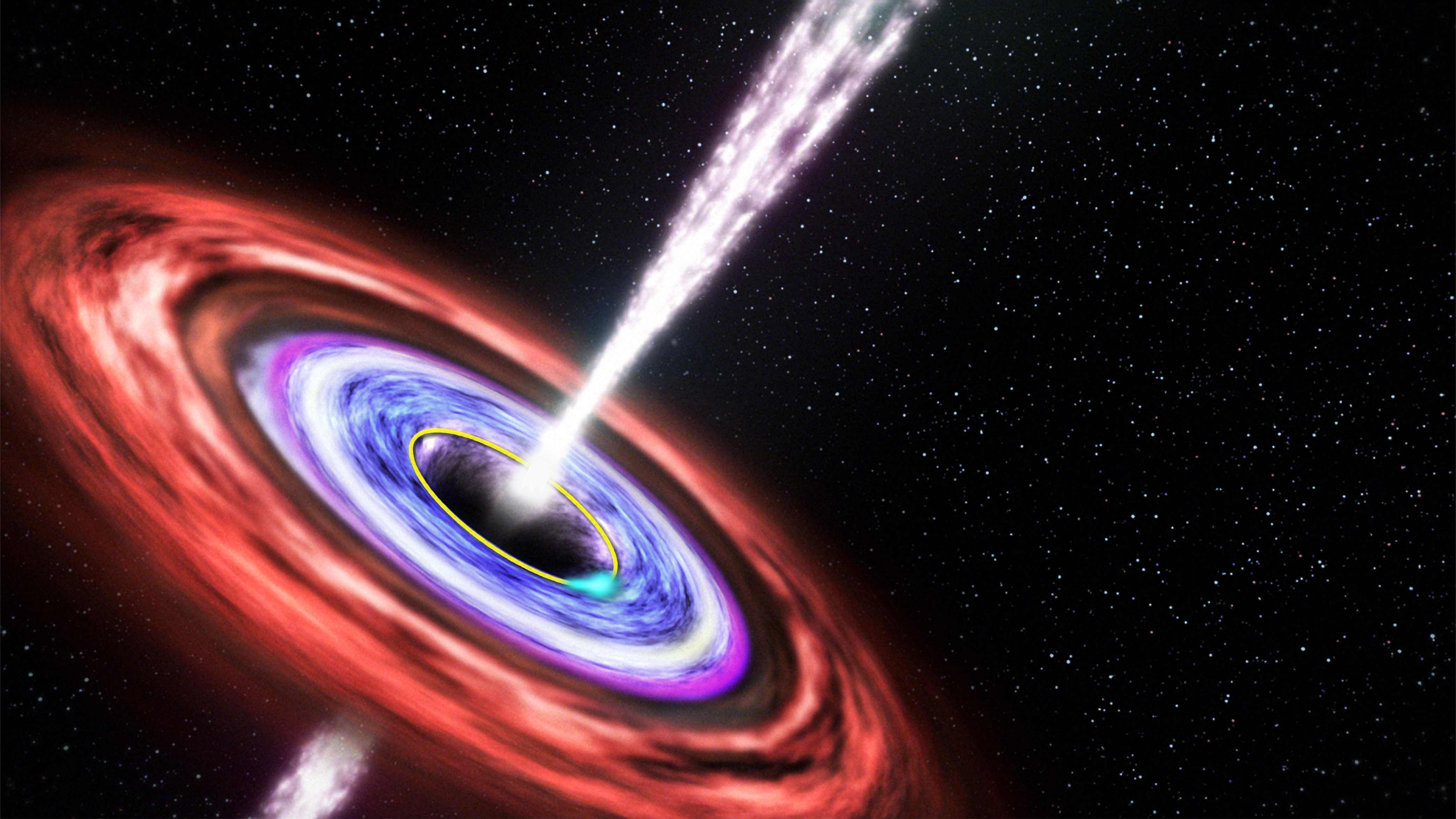 Swift J1644+57 black hole illustration