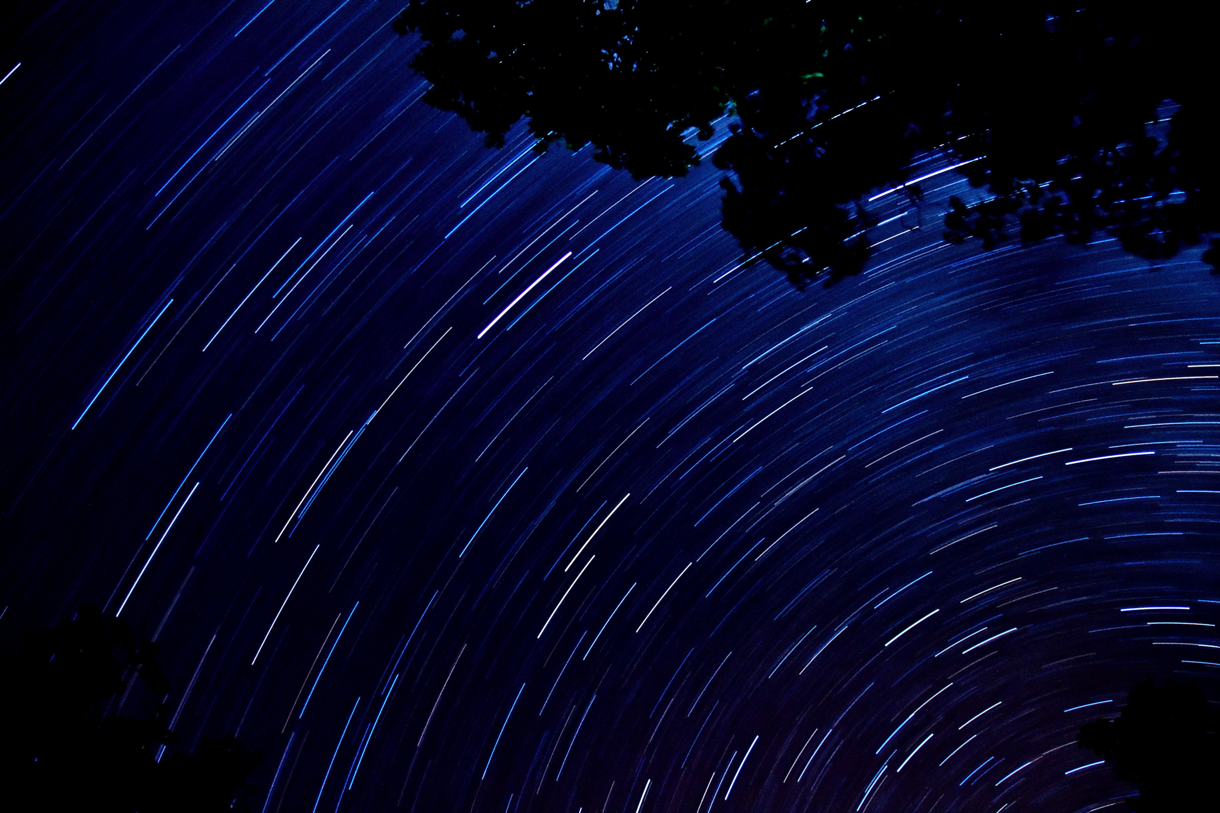 Star trails from fremont peak