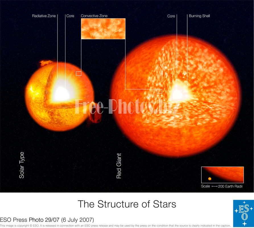 Solar-type Red Giant structure