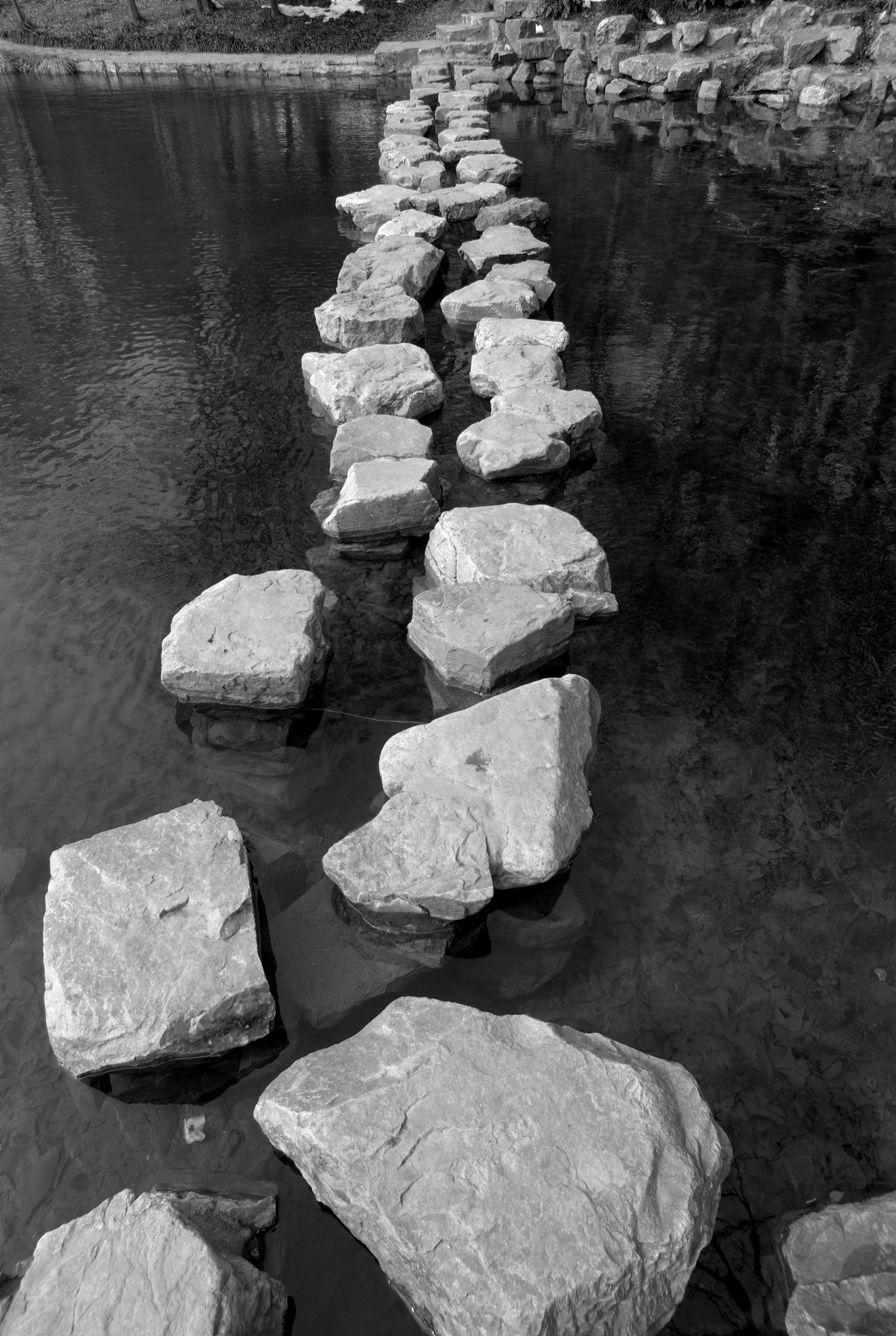 Path of stone on water