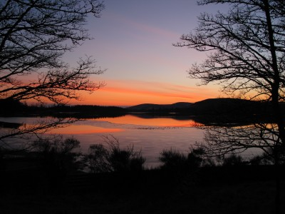 Sunset over Linrathen Loch - geograph.org.uk - 1745786