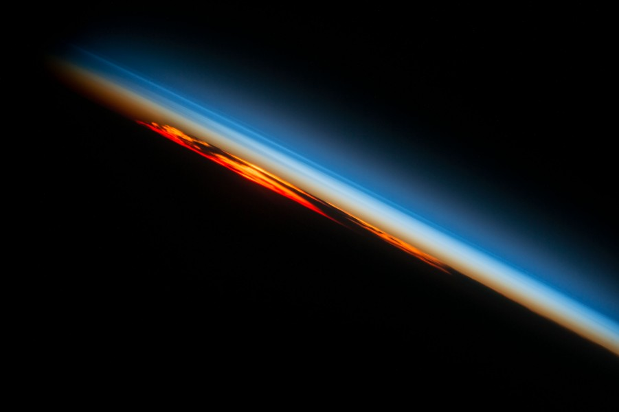 ISS-49 Sunset over the southern part of the Atlantic Ocean