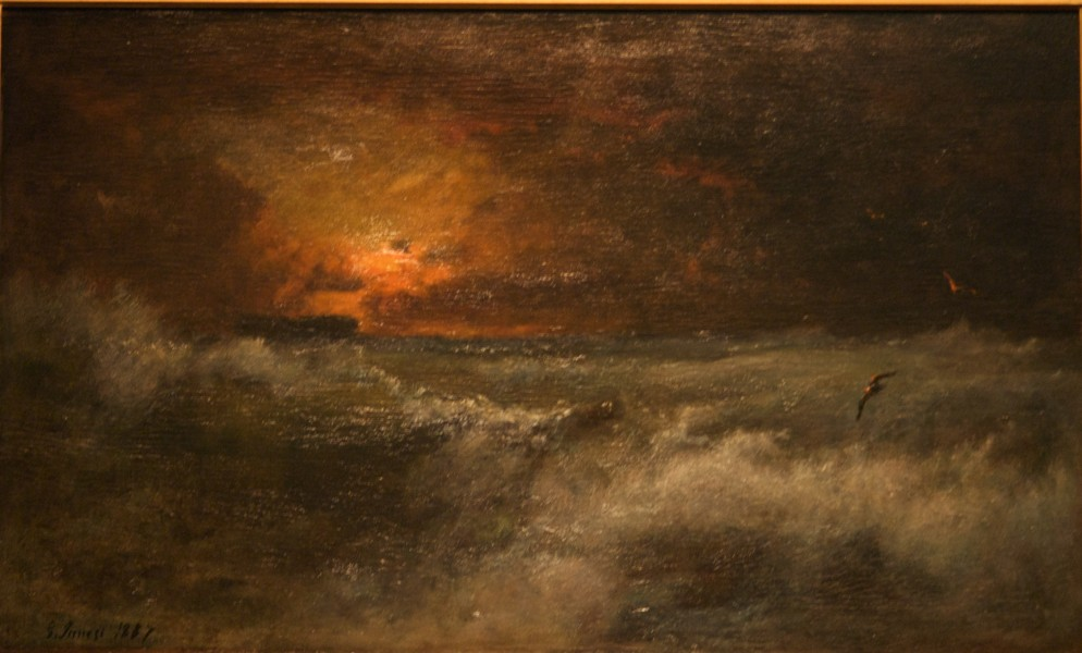 WLA brooklynmuseum George Inness Sunset over the Sea 1887