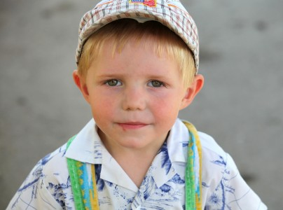 a young Catholic boy photographed in July 2013