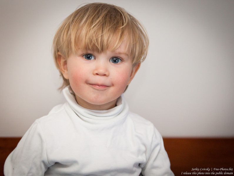 a Catholic baby boy photographed in March 2015