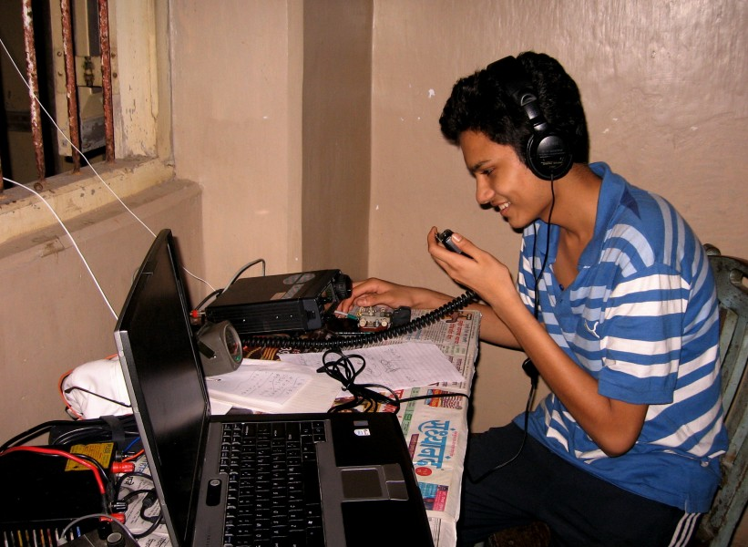 An Indian amateur radio operator on air.