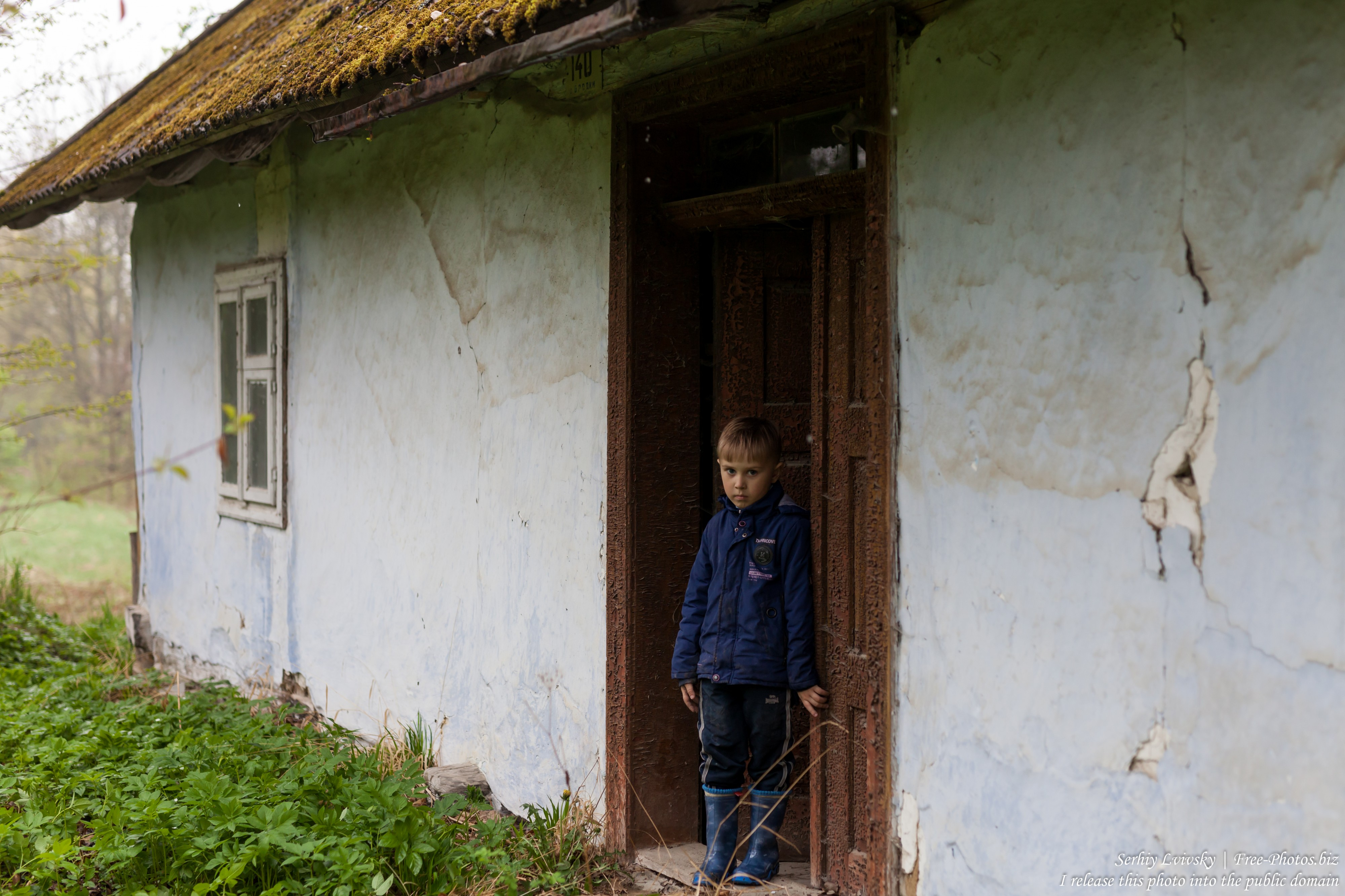 a 6-year-old boy photographed in April 2019 by Serhiy Lvivsky