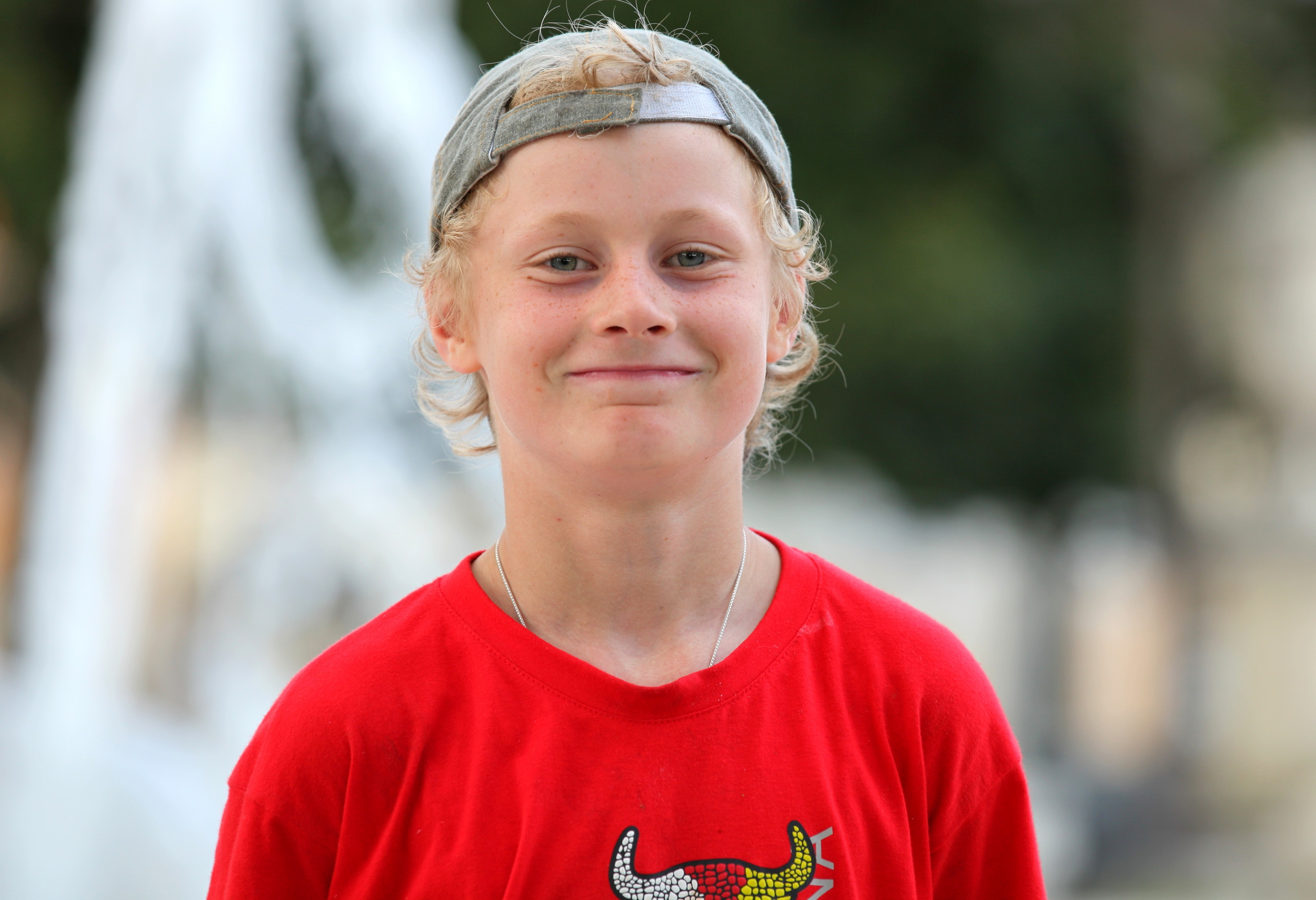 a young blond boy photographed in August 2013