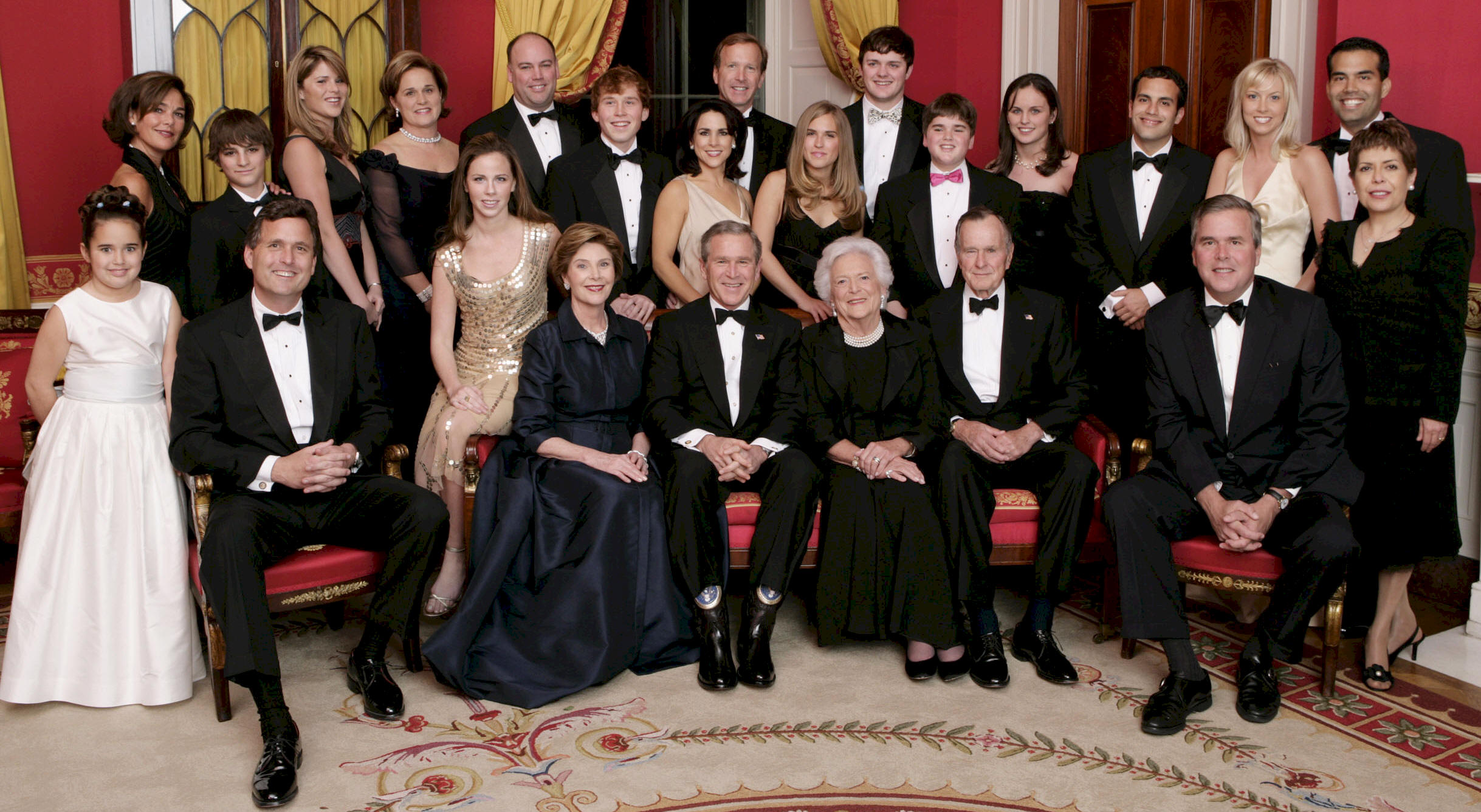 George W. Bush and family