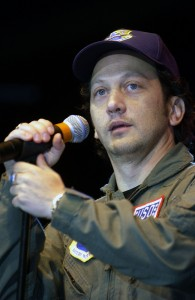 Rob Schneider, USO tour, Nov 16 2001