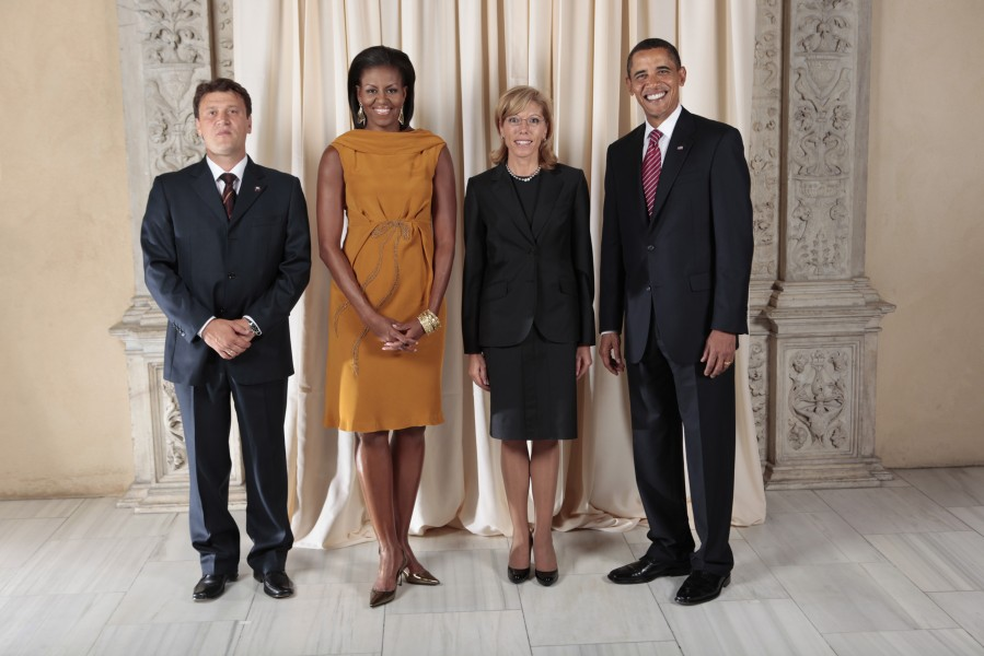 Rumiana Jeleva with Obamas