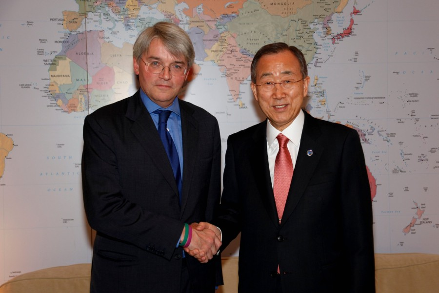 United Nations Secretary General visits DFID